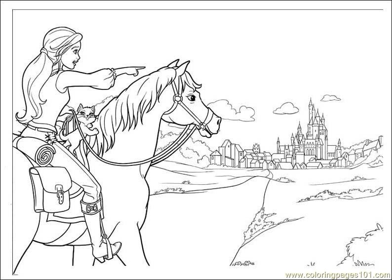Barbie And The Three Musketeers Coloring Page Free Barbie Coloring