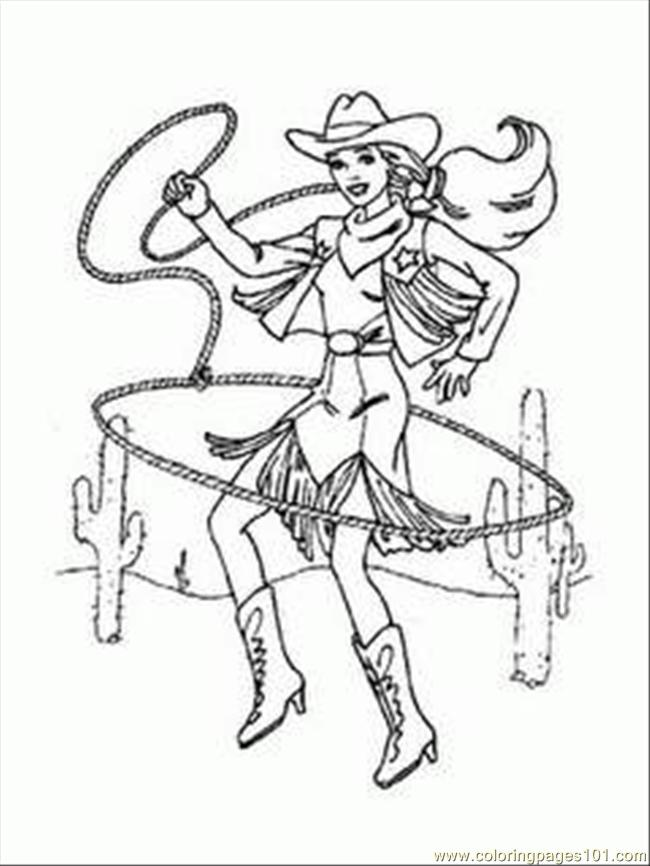 Arbie Doll Cowgirl Coloring 1 Coloring Page Free Barbie