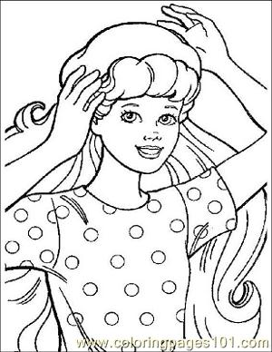 Barbie 14 Coloring Page