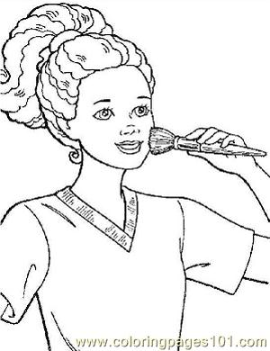 Barbie 16 Coloring Page