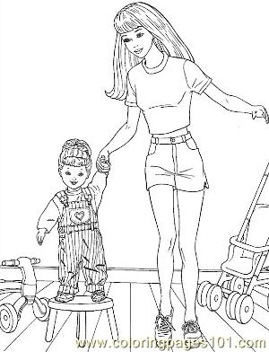 barbie 45 coloring page