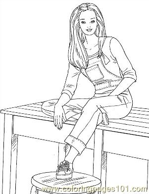 Barbie 84 Coloring Page