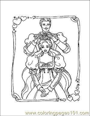 Barbie 9 Coloring Page