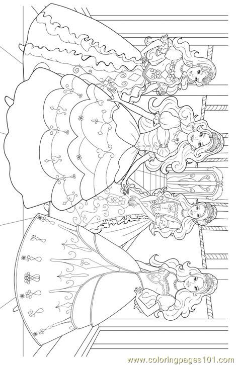 Barbie Princess Colouring Pages 1 Coloring Page