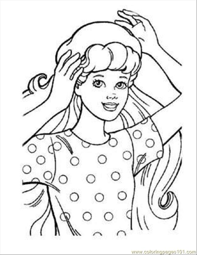 Barbie Coloring Pages 03 Page