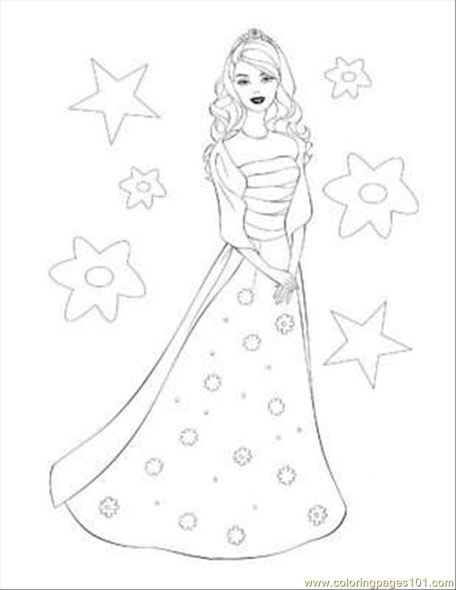 barbie coloring pages 11 coloring page - Barbie Coloring Page
