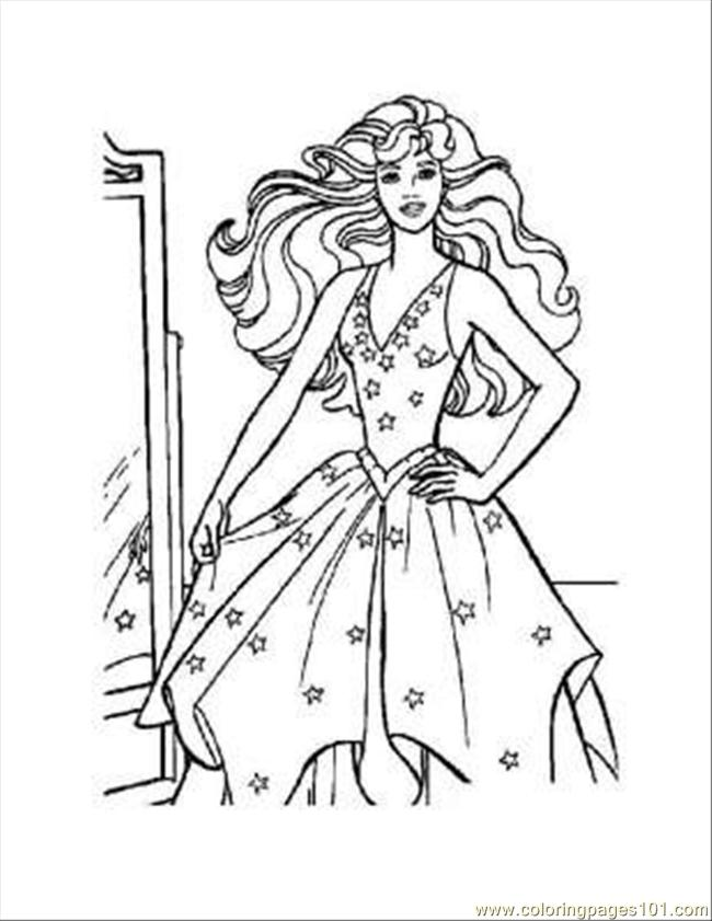 Barbie Coloring Pages 23 Coloring Page