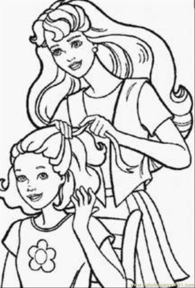 Barbie Doll Coloring Pages 1 Coloring Page Free Barbie Coloring