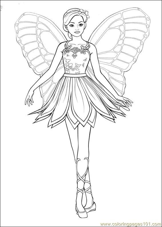Barbie Mariposa 010 Coloring Page