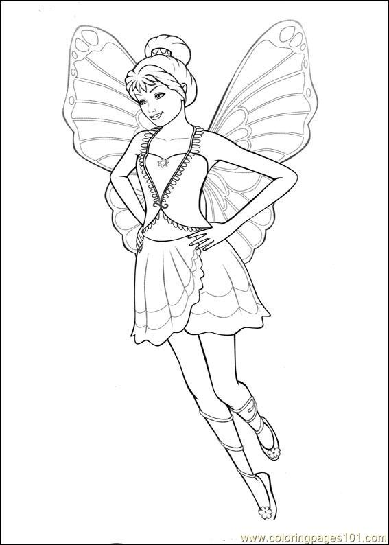Barbie Mariposa 06 Coloring Page