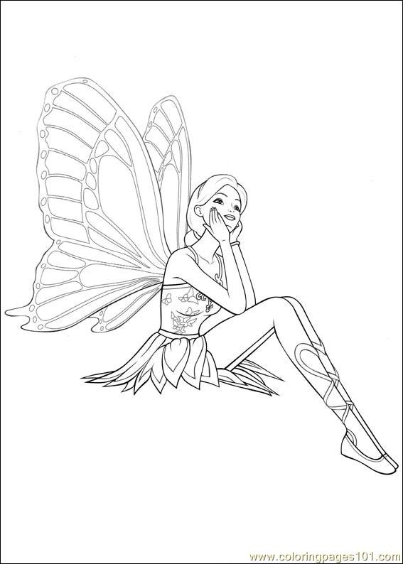 Barbie Mariposa 1 Coloring Page