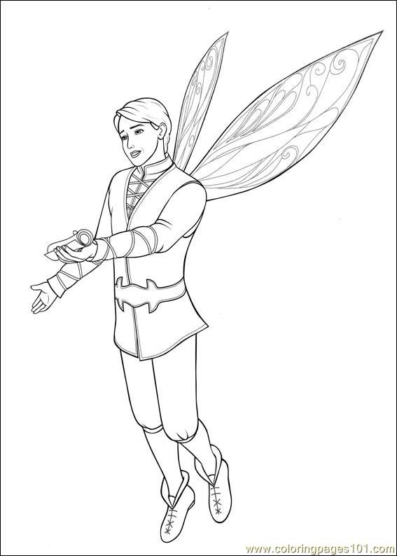 Barbie Mariposa 4 Coloring Page