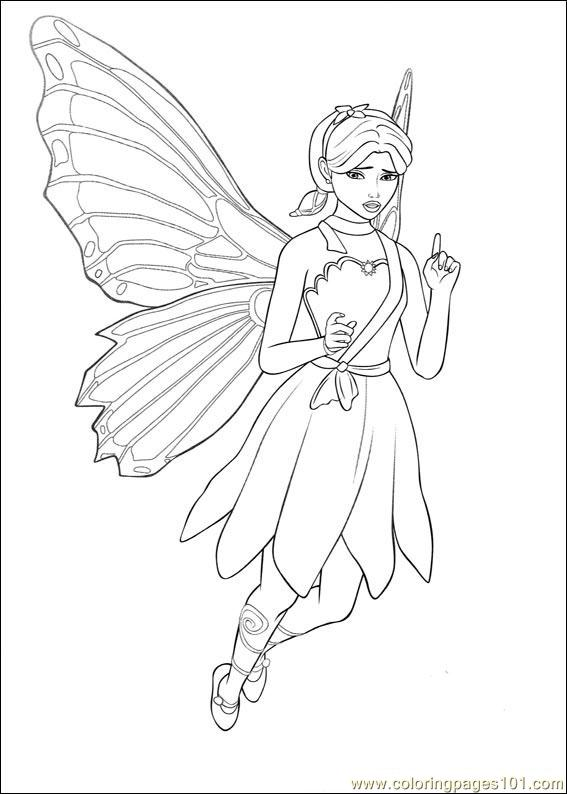 Barbie Mariposa 9 Coloring Page Free Barbie Coloring Pages