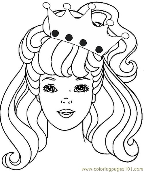 Coloringpagesprincess00 Coloring Page Free Barbie