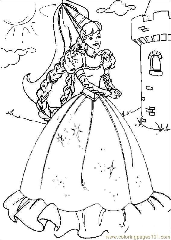 Free Printable Princess Colouring Page 01 Coloring