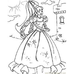 001 Barbie 52 coloring page