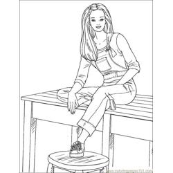 001 Barbie 84 coloring page