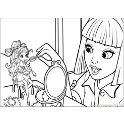Barbie-Thumbelina Free Coloring Page for Kids