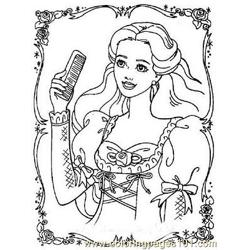Barbie (1) coloring page