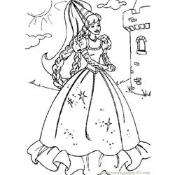 Barbie (2) coloring page