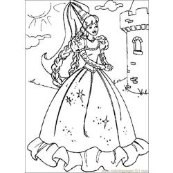 Barbie Castle coloring page