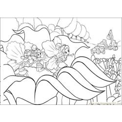 Barbie Thumbelina Free Coloring Page for Kids