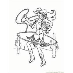 Arbie Doll Cowgirl Coloring 1