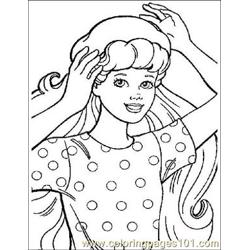 Barbie 14 Free Coloring Page for Kids