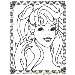 Barbie 6 coloring page