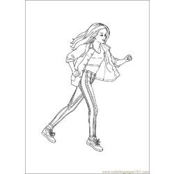 Barbie8 Free Coloring Page for Kids