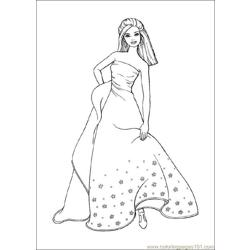 Barbie9 Free Coloring Page for Kids