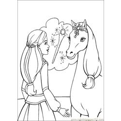 Barbie Magic Pegasus 010 Free Coloring Page for Kids