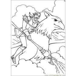 Barbie Magic Pegasus 6 Free Coloring Page for Kids