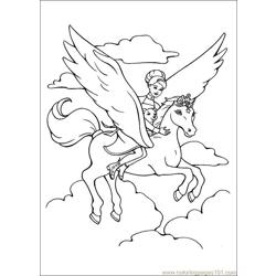 Barbie Magic Pegasus 8 Free Coloring Page for Kids