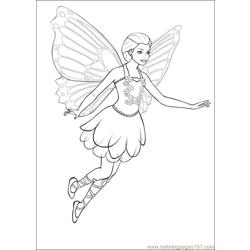 Barbie Mariposa 02 Free Coloring Page for Kids
