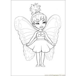 Barbie Mariposa 03 Free Coloring Page for Kids