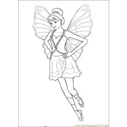 Barbie Mariposa 06 Free Coloring Page for Kids