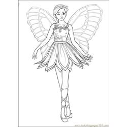 Barbie Mariposa 10 Free Coloring Page for Kids