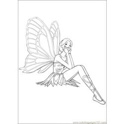 Barbie Mariposa 1 Free Coloring Page for Kids