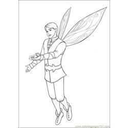 Barbie Mariposa 4 Free Coloring Page for Kids