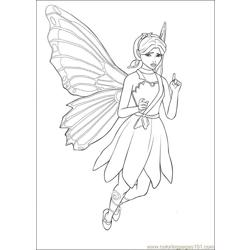 Barbie Mariposa 9 Free Coloring Page for Kids