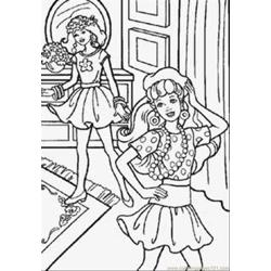 Coloring Barbie And Friend 1