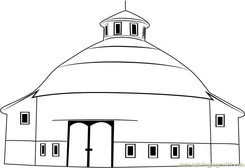 amish acres round barn theatre coloring page
