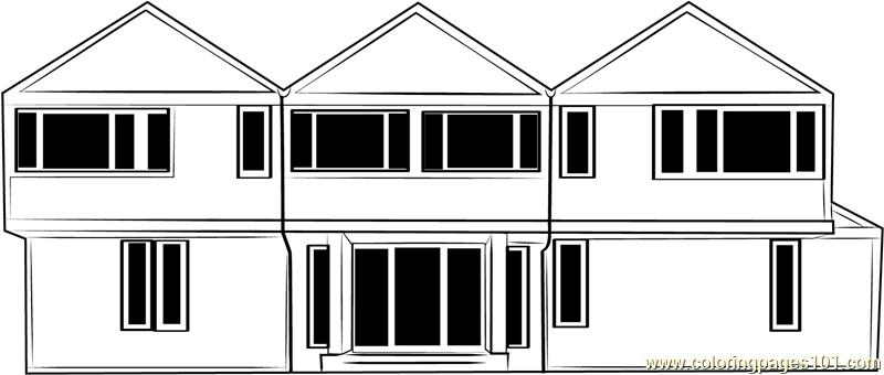 Farmhouse Barn Coloring Page