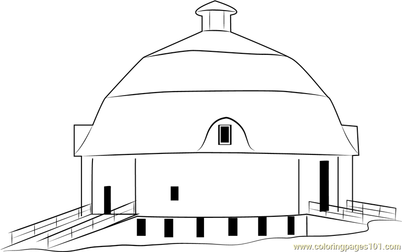 House Barn Coloring Page