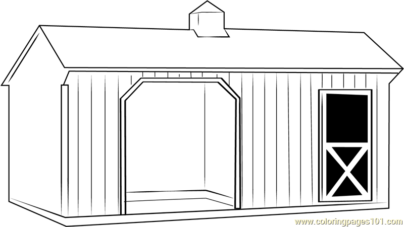 Animals In The Barnyard Coloring Page - Barn House ...