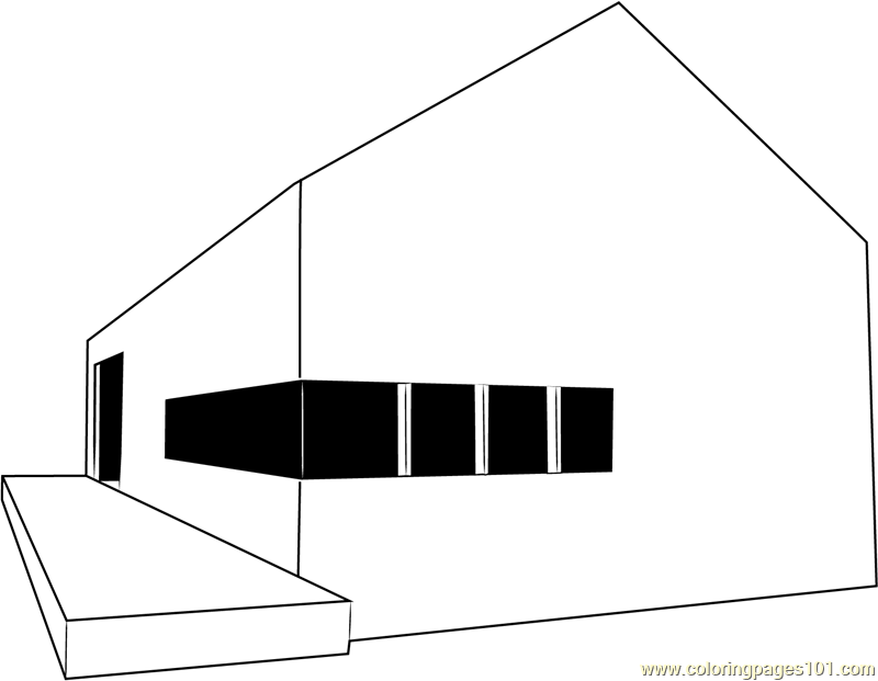 Stealth Barn Coloring Page
