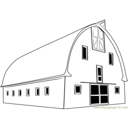 Custom Barn coloring page