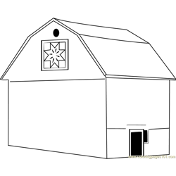 Quilt Barn coloring page