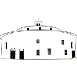 Round Barn coloring page